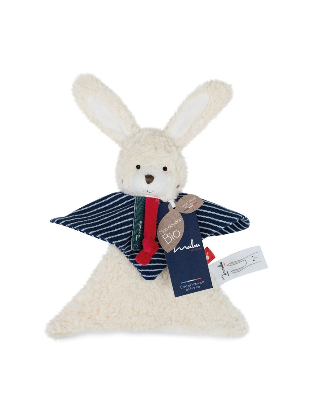 Collection Bio - LAPIN doudou 22 cm / COTON BIO