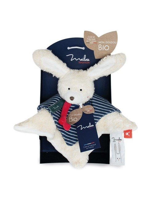 Collection BIO - LAPIN doudou 25 cm / COTON BIO