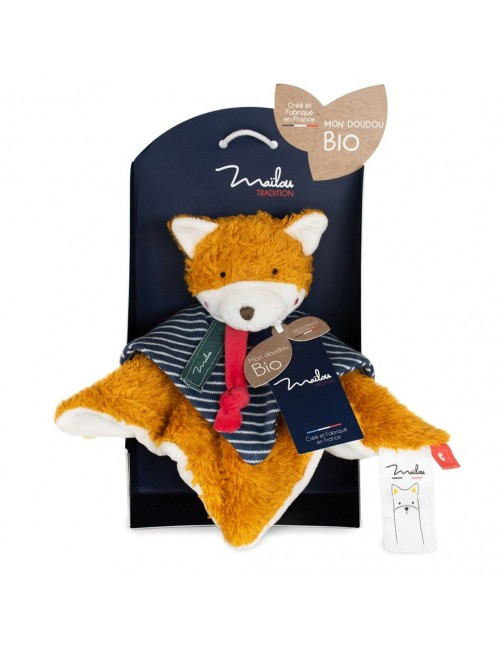 Collection BIO - RENARD DOUDOU 25 CM / COTON BIO