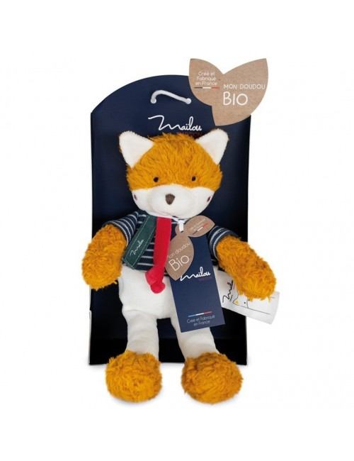 Collection BIO - RENARD pantin 30 cm / COTON BIO