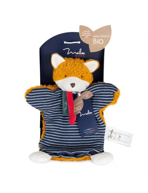 Collection BIO - RENARD marionnette 25 cm / COTON BIO