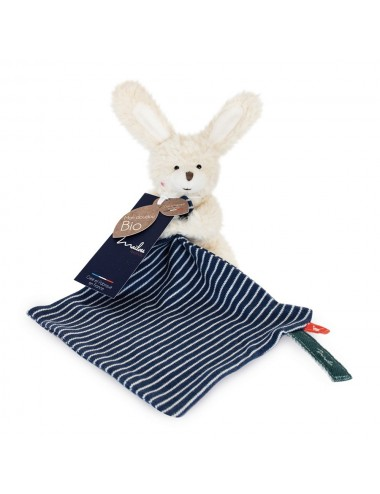 Collection BIO -LAPIN pantin avec doudou 20 cm /COTON BIO