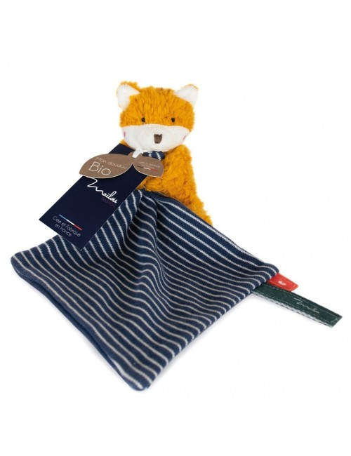 Collection BIO - RENARD pantin avec doudou 20 cm / COTON BIO